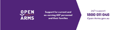 Open Arms Veteran Services, 24 hours, call on 1800 011 046.